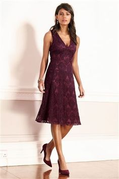 Embroidered net dress from next