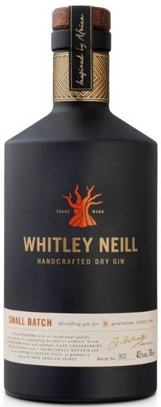 Whitley Neill gin (including African botanicals baobab fruit and Cape gooseberries, the latter of which originates in Peru, rather than South Africa)