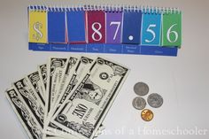 Place Value Money Practice Board--FREE download with instructions to create