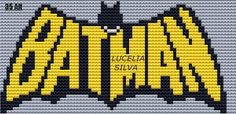 "Delicate Corner: Charts Cross Stitch ""Batman"" Cross Stitch Designs, Cross Stitch Patterns, Cross Stitching, Cross Stitch Embroidery, Diy Bordados, Crochet Batman, Corner To Corner Crochet, Stitch Cartoon, Tapestry Crochet"