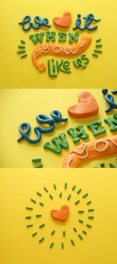 Don't we all love to be liked? Clay lettering for a children's apparel brand by Tosha Jagad.   We love when you get the most out of your font collection. Try Suitcase Fusion free for 30 days. http://www.extensis.com/font-management/suitcase-fusion/