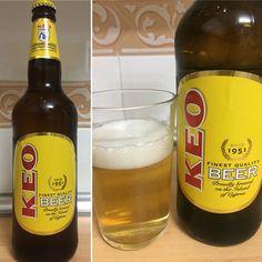 Keo beer, cerveza chipriota tipo láser. 4,5 %