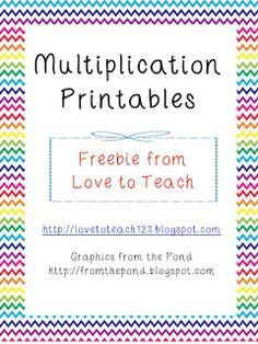 Love to Teach :): Multiplication Freebie