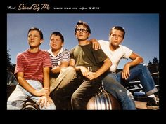 STAND BY ME Poster from original movie.   This is so classic cool!  Will Wheaton, Jerry O'Connel, Cory Feldman & River Phoenix. Who would have guessed...