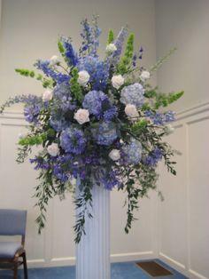 Image result for decorating using indigo floral arrangements
