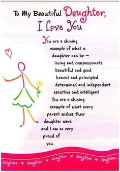 Mother Daughter Quotes, I Love My Daughter, My Beautiful Daughter, Daughter Sayings, Proud Of You Quotes Daughter, Birthday Quotes For Daughter, Brother Birthday, Brother Sister, Sayings About Daughters