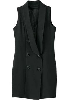 Black Sleeveless Double Breasted Dress. Fashion : Dresses : Black Sleeveless Double Breasted Dress - See more at: http://spenditonthis.com/listing-40269-black-sleeveless-double-breasted-dress.html#sthash.wxOSDIQ3.dpuf