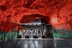 stockholm metro organic architecture