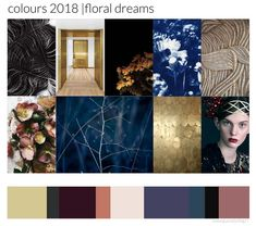 floral dreams heidi willems pure styling #kleur #trends #color #blue #gold #2018 @purestyling