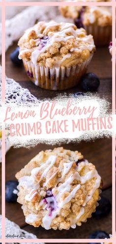 These Lemon Blueberry Crumb Cake Muffins are so fluffy! Moist blueberry muffins are bursting with tangy lemon flavor and sweet blueberries, and the brown sugar topping makes these blueberry lemon muffins extra special! Lime Desserts, Coconut Desserts, Blueberry Desserts, Spring Desserts, Bite Size Desserts, Easy Desserts, Homemade Cheesecake, Homemade Desserts, Best Dessert Recipes