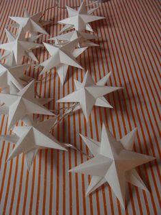 A star light chain with stars - HANDMADE culture - Trend Christmas Card 2020