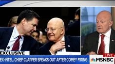 "Former Director of National Intelligence James Clapper says it would be ""out of character"" for James Comey to appeal for his job during the dinner."