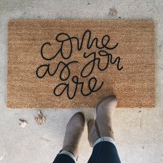 Your place to buy and sell all things handmade Welcome Mats, House Goals, First Home, Humble Abode, My Dream Home, Beautiful Homes, Architecture, Home Improvement, Sweet Home