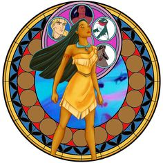 Pocahontas Stain Glass by fangtasia69.deviantart.com on @DeviantArt