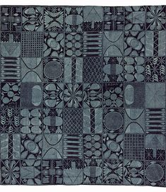 Africa | Adire eleko cloth in the Ibadan dun pattern. Ibadan, Nigeria. 1960s | ©Victoria and Albert Museum