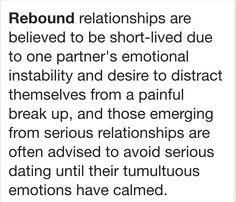 Are you in a rebound relationship