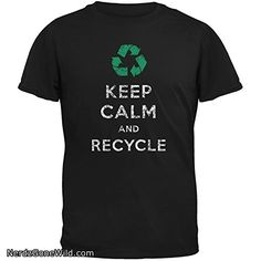 Earth Day - Keep Calm  Recycle Black Youth T-Shirt