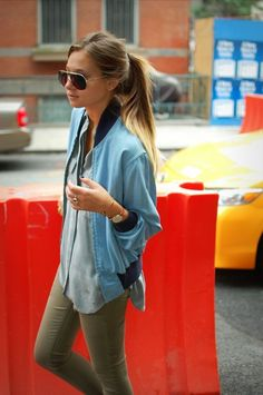 Love this casual, sporty look! #style #fashion