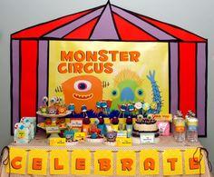 Monster Party Setup Boys Party Ideas www.spaceshipsandlaserbeams.com