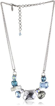 "Sorrelli ""Salt Water"" Modern Facets Crystal Silver-Tone Neck"