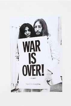 John Lennon War Is Over Poster