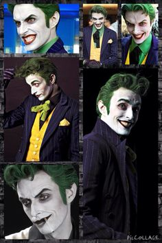 Well the joke is on you Anthony Misiano as the Joker {he nailed the joker like goodness} Dc Cosplay, Comic Con Cosplay, Joker Cosplay, Best Cosplay, Cosplay Costumes, Anthony Misiano, Personnage Dc Comics, Javier Marin, Joker Makeup