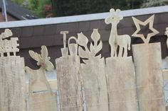 Ganz tolle Idee für einen Gartenzaun <3
