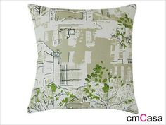 =cmCasa= 3124  Street View With Sunny Day Throw Pillow Case