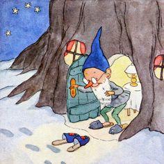 Christmas Gnome Card  Secret Santa Leaves Gifts by KatyDidsCards, $2.99