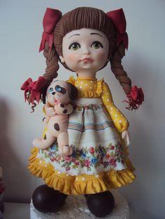 boneca encantadora,porcelana fria