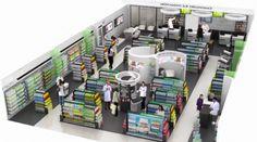 Pharmacie : 1er Concept (Drug)Store médical | Jaibobola Retail Interior Design, Retail Store Design, Studio Interior, Pharmacy Store, Store Layout, Retail Experience, Medical Design, Store Displays, Ceiling Design