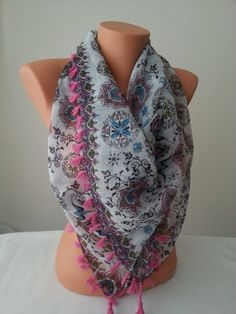 Pink & colorful  Pareo also as a scarf Beach by SpecialFabrics, $17.00