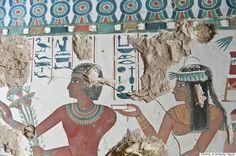 Descobertos em Luxor túmulos da antiguidade egípcia com murais assombrosos