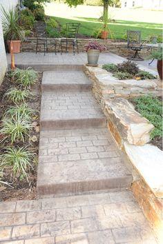 Decorative Concrete Steps-Home and Garden Design Ideas