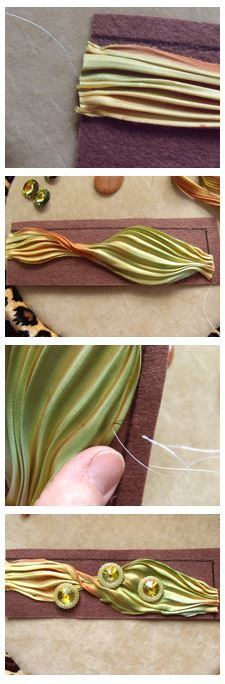 An exotic twist to bead embroidery! Learn to embroider with Shibori silk ribbon.