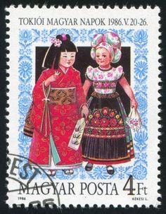 Hugarian folkloristic stamp...
