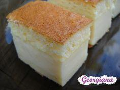 Este o prăjitură simplă, dar gustoasă (seamănă oarecum cu o cremă de zahăr ars) și de efect deoarece la cuptor se separă singură î...