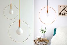 You can make this chic hoop light for just $60.