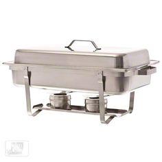 Update International (SCC-19) - 8 Qt Stainless Steel Rectangular Stackable Chafer | FoodServiceWarehouse.com