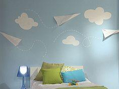 Manualidades y Artesanías | Dormitorio con aviones de papel | Utilisima.com