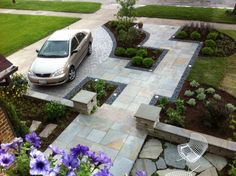 Creative Fabulous Front Yard Hardscape Ideas With Natural Stones : Numbers Of Smart Ideas Related To Your Home Exterior Landscaping Plan By Applying Modern Hardscape Ideas For Front Yard