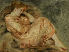 Centuries Past, Reclining Woman Solomon Joseph Solomon (1860–1927)...