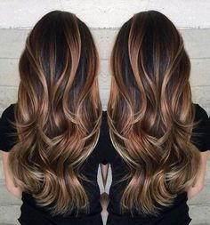 Gorgeous long brunette hair with rich blonde balayage hair color by Janai Hartt… Hair goals Hair Color And Cut, Hair Color For Brown Eyes, Color For Long Hair, Long Hair Colors, Layers For Long Hair, Tiger Eye Hair Color, Brunnete Hair Color, Hair Styles Long Layers, Styles For Long Hair