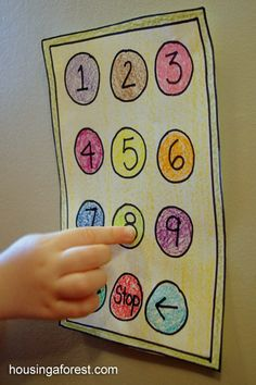 Pretend Elevator ~ simple pretend play that is great for working on number recognition.