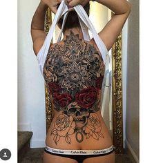 Hình xăm kín lưng - Tattoos full back