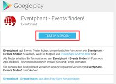 The new Eventphant Android app is open for beta! Google Play, Android Apps, Ios
