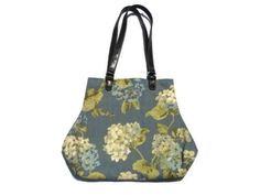 Dusty Blue Floral Fabric Handbag Purse by SadiesSnippets on Etsy, $45.00