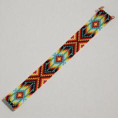 Perle Bohème Loom Bracelet amérindien inspiré par PuebloAndCo