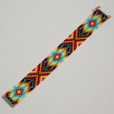 Bohemian Bead Loom Bracelet Native American by PuebloAndCo on Etsy