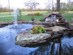 Love this backyard pond design